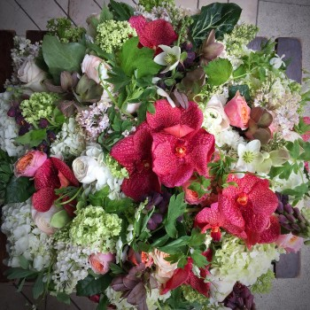 Bouquet de deuil-le Bouquet infini-vue dessus