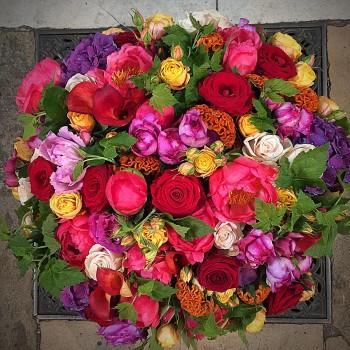 Panier de fleurs Symphonie