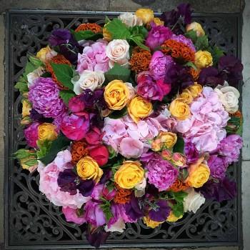 Panier de fleurs Souvenir
