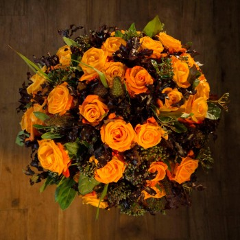 The Athena orange roses