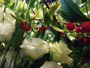 Bouquet de fleurs lysianthus